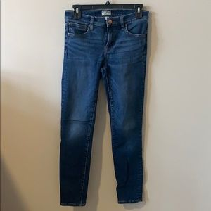 J Crew 8 inch rise toothpick jeans